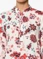 Fashion Friends Çiçek Desenli Gömlek Ekru